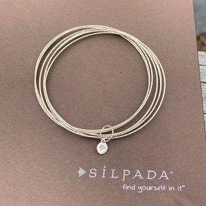 B3008 Silpada sterling Lastine Impressions bracelets